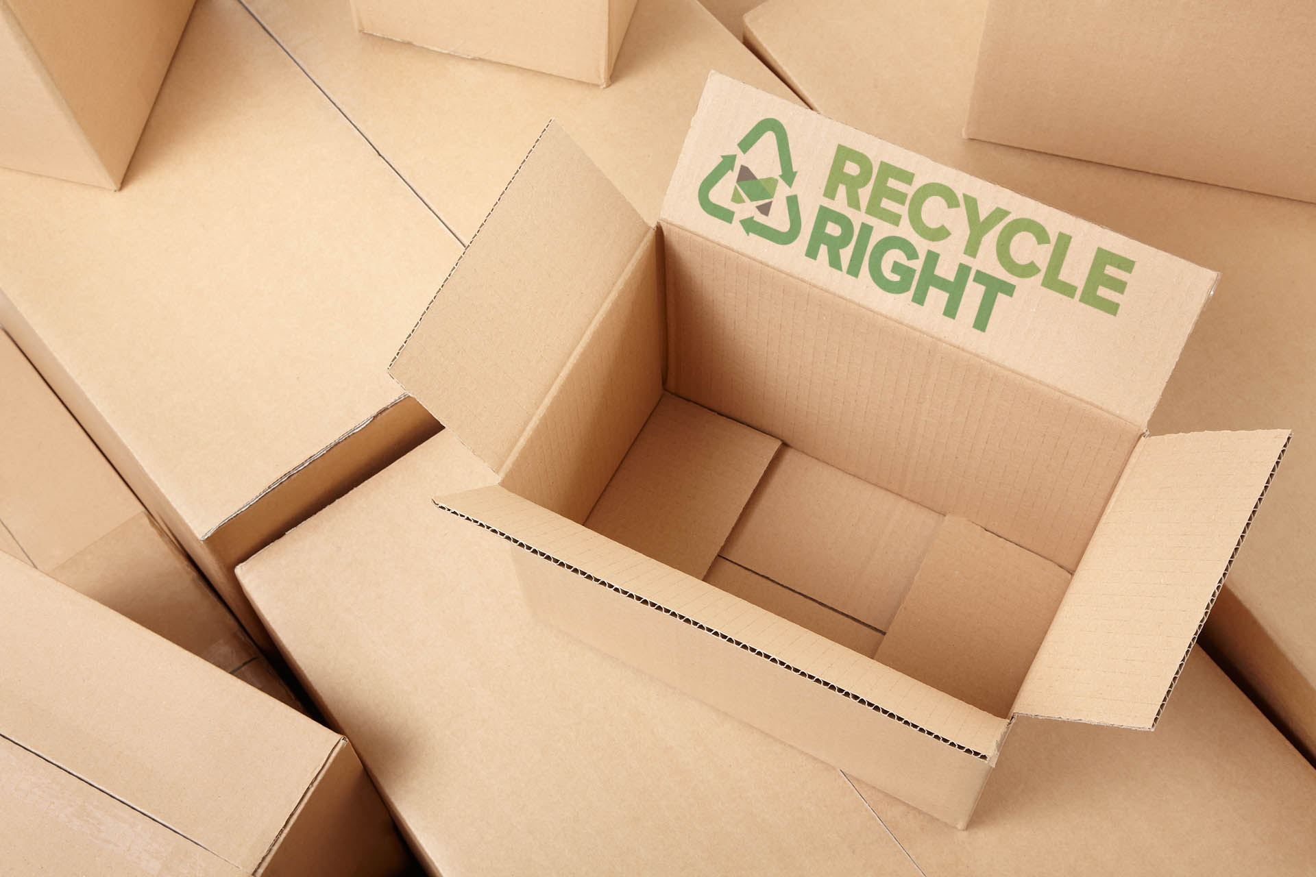 Cardboard Boxes to be recycled.